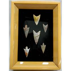 Framed Collection of Native American Points