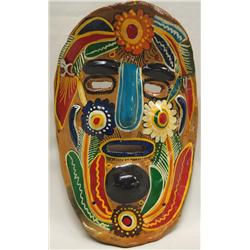 Mexican Huichol Ceramic Mask