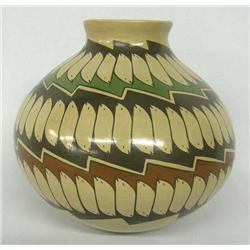 Mata Ortiz Polychrome Pot by Martha Hernandez
