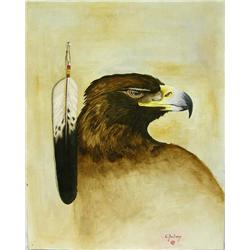 Original Painting by Native American Creek Artist Chebon Barnoskie