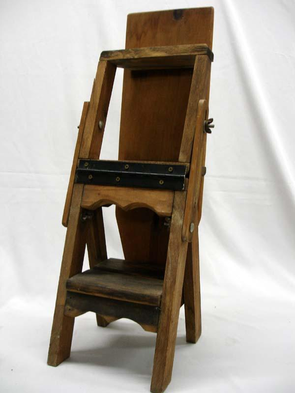 Antique Saleman's Sample Wood Ironing Board Ladder. Loading zoom - Antique Saleman's Sample Wood Ironing Board Ladder