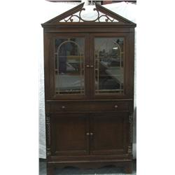 Antique Mahogany China Cabinet MUST BE PICKED UP