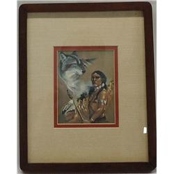 Framed Matted Indian Print