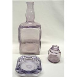 Purple Glass Flemings Rye-Sanford Ink & Ashtray