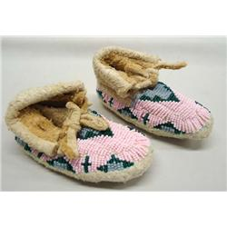 Native American Lakota Sioux Beaded Moccasins