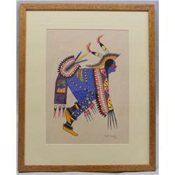 Native American Original Tesuque Painting by Coriz