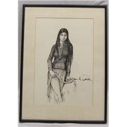 Native American Navajo Original Pen & Ink by Morez