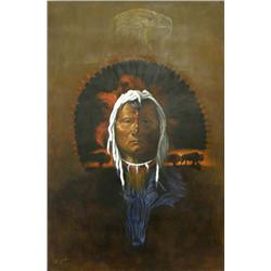 Native American Painting by Creek Artist Barnoskie
