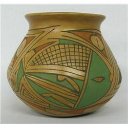Mata Ortiz Polychrome Fish Pot by Rosa Gaona