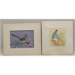 Pr Matted Native American Prints by Begay & Chee