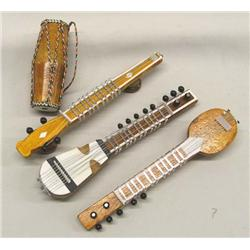 4 Mid-Eastern (India) Miniature Instruments