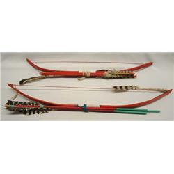 2 Child's Bow and Arrow Sets