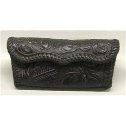 Western Hand Tooled Glass Case By Mi Mo Jo