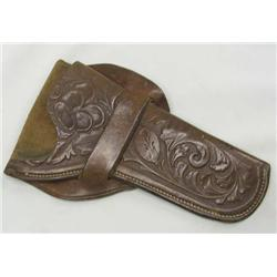 Western Tooled Leather Revolver Holster