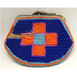 1930 Native American Ute All Bead Coin Purse