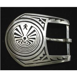 Native American Hopi Silver ''Man in Maze'' Buckle