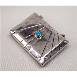 Native American Navajo Silver Hinged Box