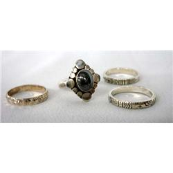 4 Southwest Design Silver Rings