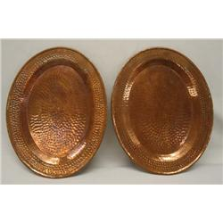 2 Hand Hammered Copper Plates
