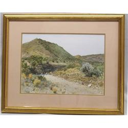 Original Southwest Framed Watercolor By Jim Jones
