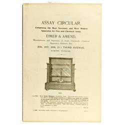 New York,NY - c1900 - Assay Circular Document :
