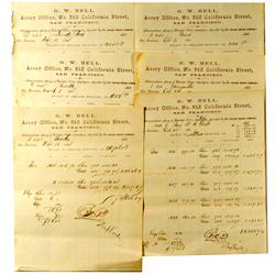 San Francisco,CA - 1863/1864 - Bell, G. W. Assay Office Memorandums :