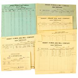 Tonopah,NV - Nye County - Dec. 7, 1907 - Desert Mill Assay Documents :