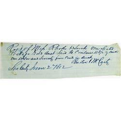 Shasta,CA - June 2, 1852 - Gold Dust Manuscript Receipt :