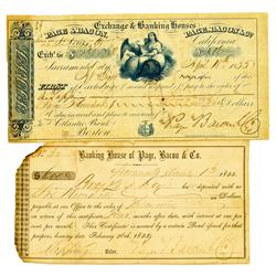 St. Louis,MO - November 11, 1855 - Page, Bacon & Co. Bankers, Firsts of Exchange :