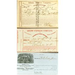 c1860 - Adams Express Company Notes :