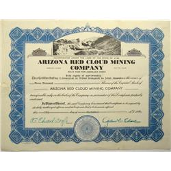 Arizona Red Cloud Mining Company Stock Certificate :