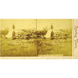 "c1880s - Great Plains Old Chief's Camp--""Goose""--Stereoview :"