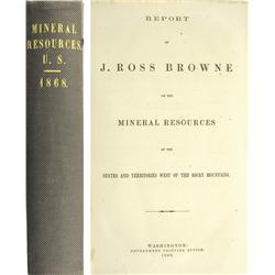 1868 - Reports on the Mineral Resources of the US Book :