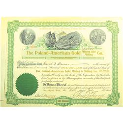 bond and american gold certificates Much like a government bond, or even a simple iou, the certificate would   north clear creek gold and silver mining company of colorado - £130  this is  an original stock certificate for former american football quarterback, joe  namath's.