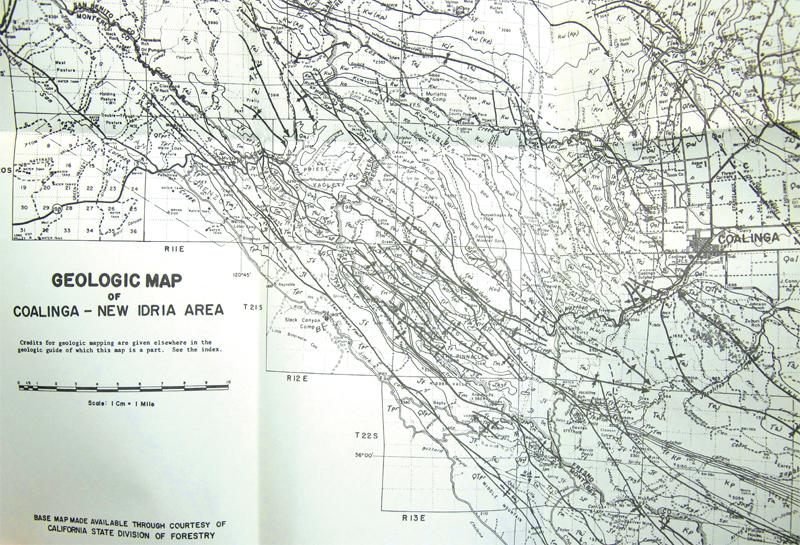 Coalinga California Map.Fresno County Ca Geologic Map Of Coalinga New Idria Area