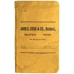 Goldfield,NV - Esmeralda County - 1913-1915 - Jumbo Reduction Company, Bankers Account Book :