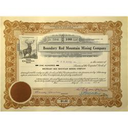 Reno,NV - Washoe County - 1923 - Boundry Red Mountain Mining Company Stock Certificate :