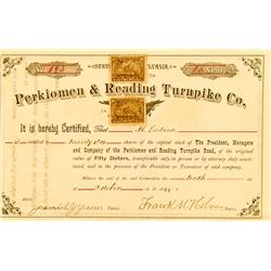 PA - Perkiomen & Reading Turnpike Co. Stock :