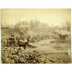 PA - c1880 - Rock Quarry Workers Photograph :