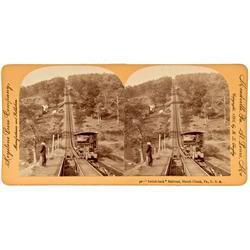 Mauch Chunk,PA - Switch-Back Railroad Stereoview :