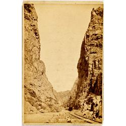 UT - c1880 - Canyon Railroad Photograph :