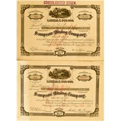 Bingham,UT - Sampson Mining Co. Stocks :