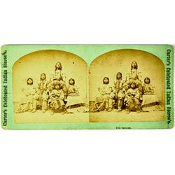 Salt Lake,UT - c1870 - Ute Indians Stereoview Utah Territory :