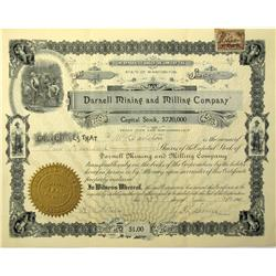 WA - 1901 - Darnell Mining and Milling Company Stock Certificate :