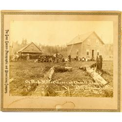 Big Skookum,WA - c1890 - Ox Team and Residence Cabinet Card *Territory* :