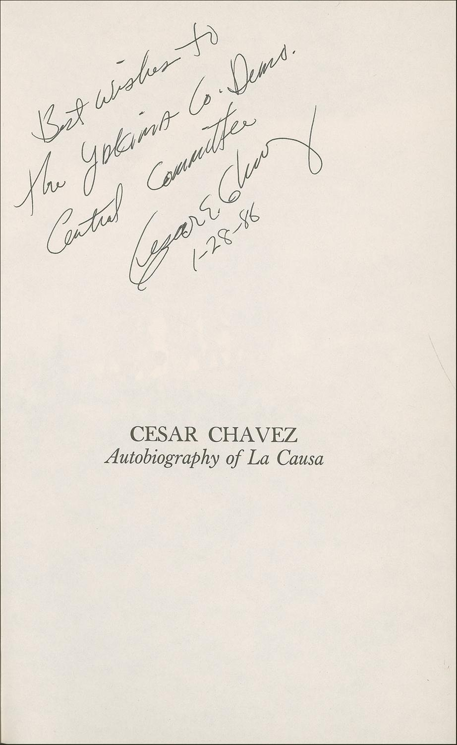 cesar chavez notes The crusades of cesar chavez has 164 ratings and 24 reviews hakan said: i didn't know much about cesar chavez before getting this book  notes and more pawel, in the first critical biography of chavez, gives us the good, the bad, and the ugly in the life of the man who gave california's farmworkers their first union, then, due to stubbornness, wrongly-directed singlemindedness and authoritarian leadership, wrecked it pawel quotes chavez talking about that singlemindedness.