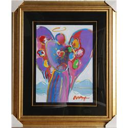 Peter Max, Angel with Heart, Painting