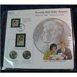 211. 2004 P & D Kennedy Half Dollars in a special display