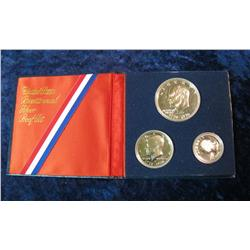 214. 1976 S U.S. Silver Three-Piece Proof Set. Original as