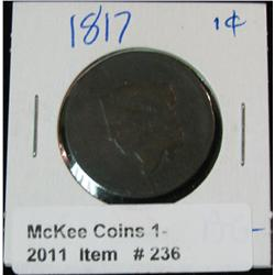 236. 1817 U.S. Large Cent. AG-3.